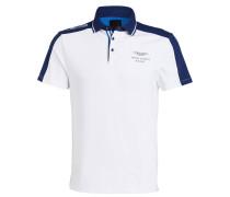Piqué-Poloshirt - weiss/ navy
