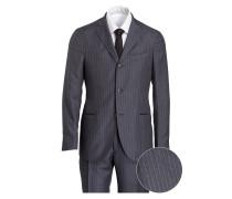 Anzug aus Schurwolle Slim-Fit - grau
