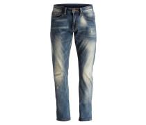 Destroyed-Jeans Slim-Fit - 07 dark blue