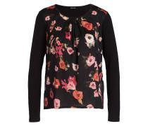 Blusenshirt - schwarz/ rosa