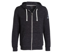 Sweatjacke ELEMENTS - schwarz meliert