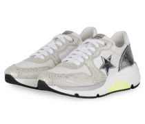 Plateau-Sneaker LOGAN 5 - WEISS/ SILBER