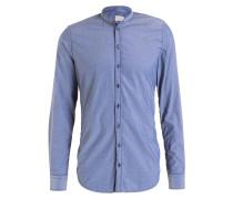 Hemd RENÈ Slim-Fit mit Stehkragen - blau