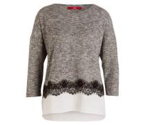 Pullover mit 3/4-Arm - grau meliert