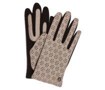 Lederhandschuhe - grau/ schwarz