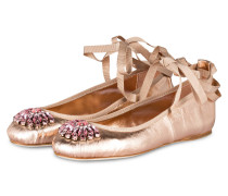 Ballerinas GRACE - rosé metallic