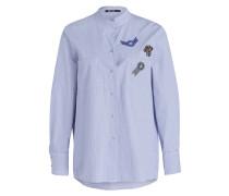 Bluse mit Patches - navy/ weiss gestreift