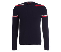 Strickpullover - navy/ weiss/ rot