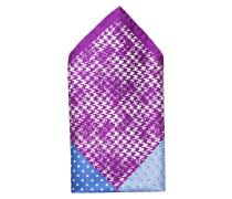 Einstecktuch - violett/ blau/ weiss