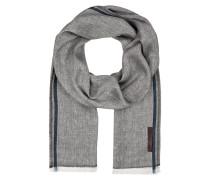 Schal mit Leinenanteil - grau