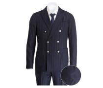 Anzug Fitted - blau