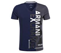 T-Shirt - dunkelblau/ grau