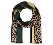 Schal - beige/ schwarz/ grün