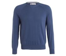 Pullover - blau/ grau