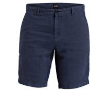 Leinen-Shorts CRIGAN Regular-Fit - navy