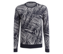 Pullover - dunkelblau/ grau