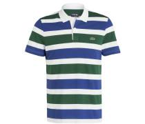 Poloshirt - grün/ blau/ weiss gestreift