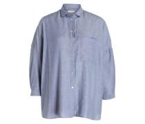 Oversized-Bluse - blau