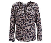 Blusenshirt aus Seide - rosé/ dunkelblau