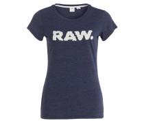 T-Shirt SAAL - dunkelblau meliert