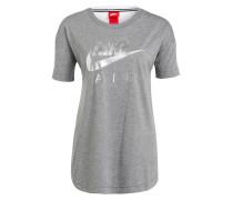 T-Shirt - grau/ weiss