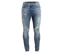 Destroyed-Jeans Skinny-Fit - medium indigo
