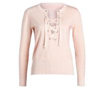 Pullover mit Schürung - rosa