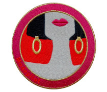 Patch MODEPILOT - rot/ fuchsia/ gold