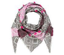 Tuch MIA - grau/ oliv/ pink
