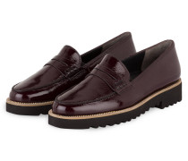 Plateau-Loafer - bordeaux
