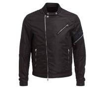 Jacke JAUR im Biker-Stil - schwarz