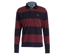 Rugby-Shirt - bordeaux/ navy