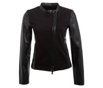 Jacke im Materialmix - schwarz