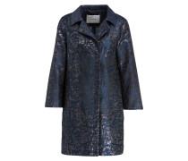 Mantel - blau/ silber