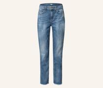 Boyfriend Jeans mit Schmucksteinbesatz