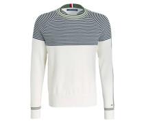 Pullover - creme/ navy/ grün