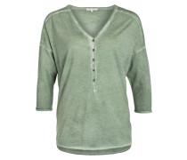 Shirt mit 3/4-Arm - grün