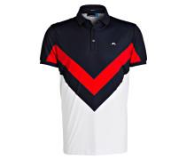 Poloshirt - weiss/ navy/ rot