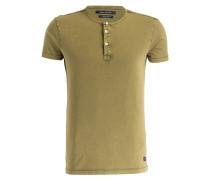 Henley-Shirt - oliv