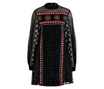 Kleid NATALIE - schwarz/ burgunder/ gold