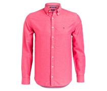 Oxfordhemd Slim-Fit mit Leinenanteil