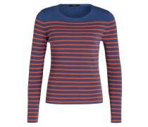 Pullover - blau/ orange gestreift