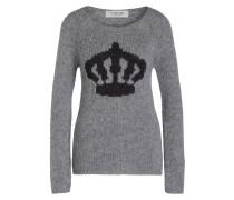 Pullover mit Alpaka-Anteil - grau/ schwarz