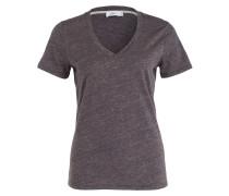 T-Shirt - navy meliert