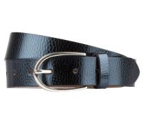 Ledergürtel - blau metallic