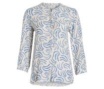Bluse MANNA - offwhite/ blau/ rot