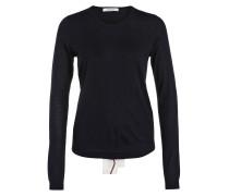 Pullover Seidenband am Rücken