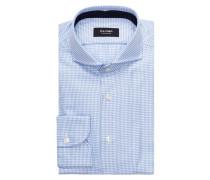 Hemd tailored fit - hellblau/ weiss