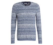 Pullover - weiss/ blau