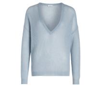 Oversized-Pullover - blau